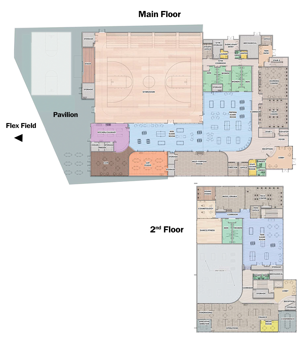 Multi Floor Plan For Naming Page Boys Girls Clubs Of Manatee County