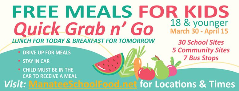 Meals for Kids Grab n Go Update graphic